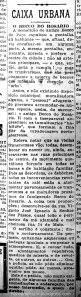 """Coluna """"Caixa Urbana"""", da edição de 17/01/1926 do Correio do Povo."""