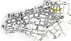 Localização do Beco do Rosário na Planta de Henri Breton (1881).