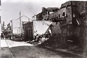Demolição Beco do Rosário. Fototeca do Museu Hipólito da Costa.