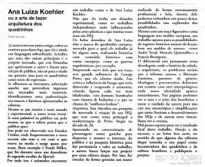 """Matéria de Erick Azevedo sobre o preview de """"Beco do Rosário"""", no Jornal Para Todos #2, durante o FIQ 2013."""