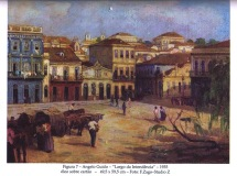 Angelo Guido - Largo da Intendencia e Beco da Ópera. Pinacoteca Aldo Locatelli.