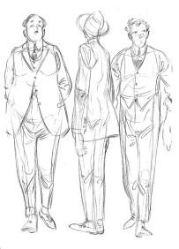 50 Esboços a lápis sketchbook A5 cavalheiros