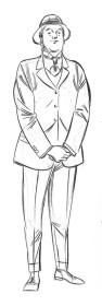 Sketchbook A5 cavalheiro - pincel