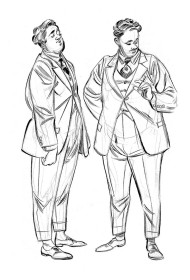 Sketchbook A5 cavalheiros - pincel