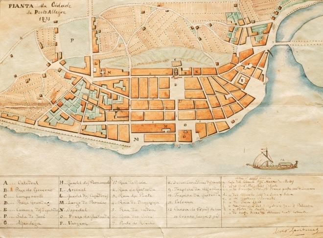 Planta de Porto Alegre - 1833