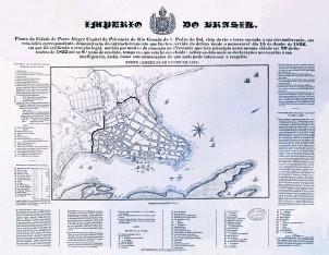 Planta de Porto Alegre - 1838