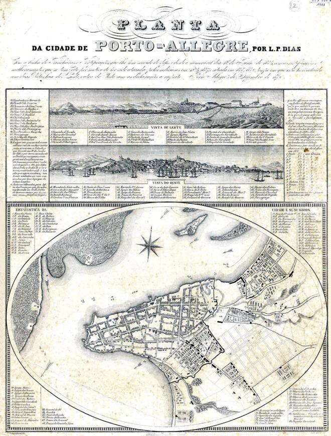 Planta de Porto Alegre - 1839