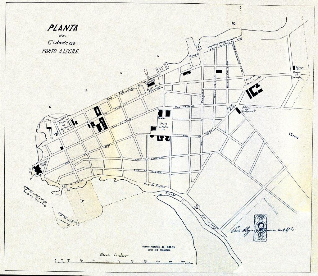 Planta de Porto Alegre - 1872
