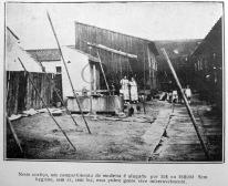 """A Máscara 21 ago 1920 - As habitações em Porto Alegre - detalhe 2: """"Neste cortiço, um compartimento de madeira é alugado por 30$ ou 35$000 Sem hygiene, sem ar, sem luz, essa pobre gente vive miseravelmente."""""""