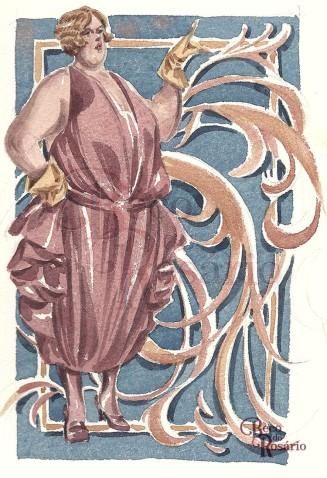 Frederica - aquarela sem linha