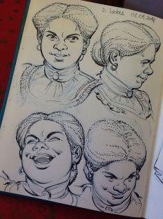 Desenho da lápis, caneta nanquim e aquarela no sketchbook, 2014.