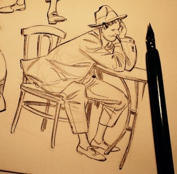 Desenho com lápis e bico de pena, 2015.