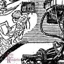 Detalhe do anúncio do ventilador elétrico Westinghouse. Reparar no belo e preciso tratamento de linhas em meios-tons. (A Federação, 13/1/1926, Hemeroteca do MCSHJC.).