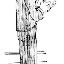 Caricatura na revista A Mascara de 30/11/1924 (hemeroteca do MCSHJC). Interessante tratamento de hachuras e figurino de época.
