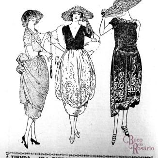"""Anúncio """"Modas"""" na revista A Mascara de 2/10/1920, Anno III, Num XVIII."""