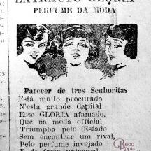 """Anúncio do """"Extracto Gloria"""" em um exemplar d'A Federação de 1927. Hemeroteca do AHMMV."""