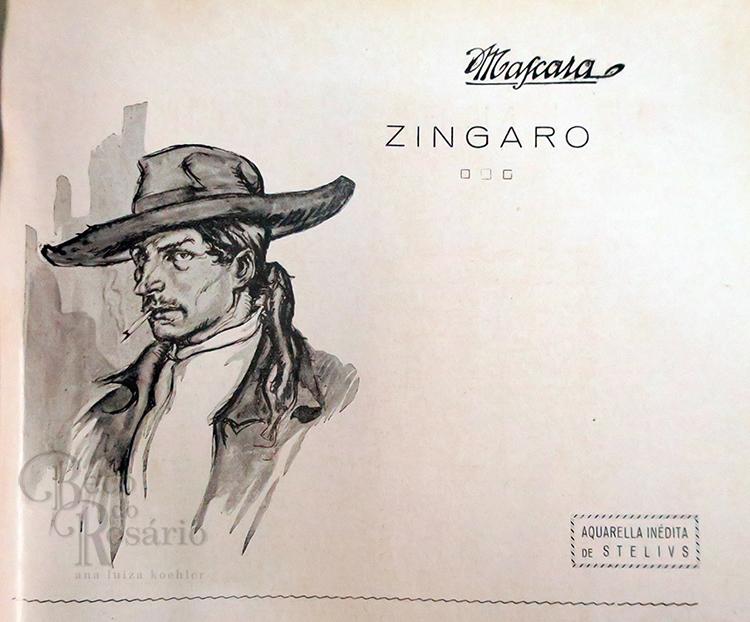"""""""Zingaro"""". Revista """"A Mascara"""", Ano VII, nr. 5, março de 1925, p25."""