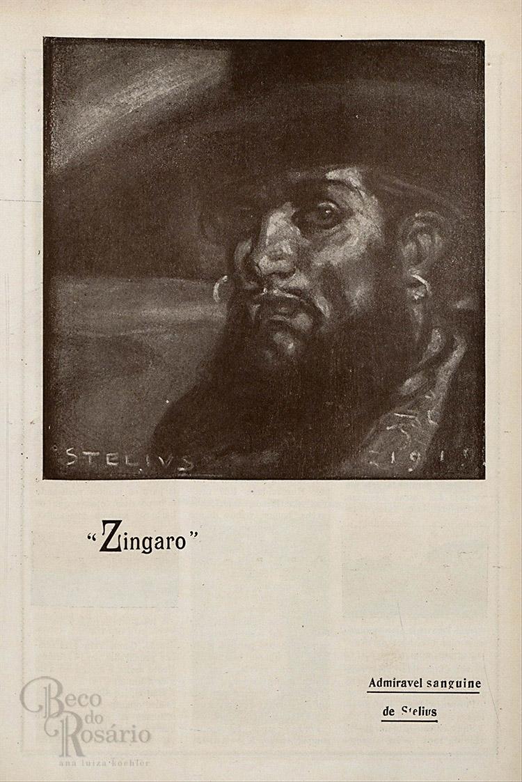 """Zingaro"". Revista ""A Mascara"", BNDigital, 1919, Ed00027, p21."