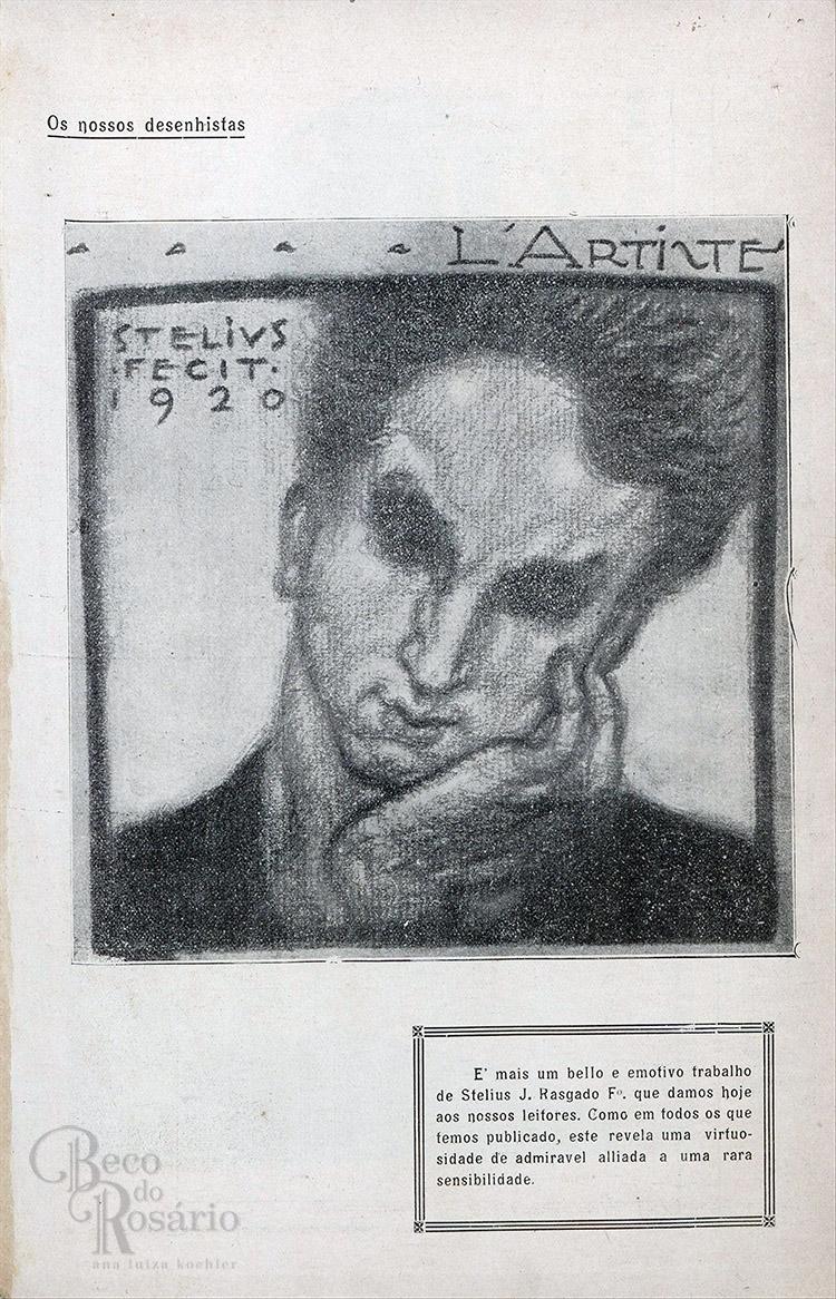"""L'artiste"". Revista ""A Mascara"", BNDigital, 1920, Ed00005, p23."